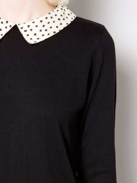Therapy Spot woven collar jumper