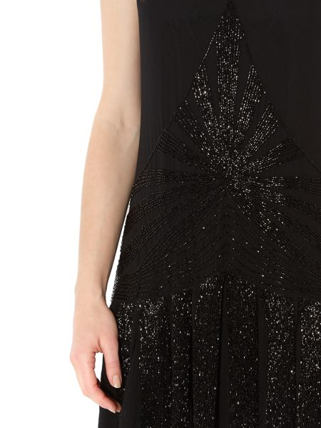 Biba Embellished flapper dress