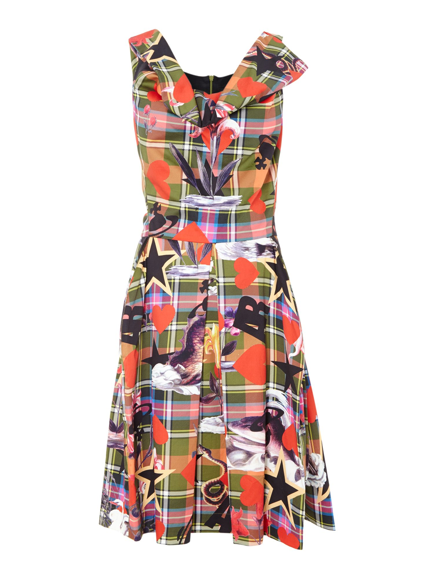 Halton fit and flare dress