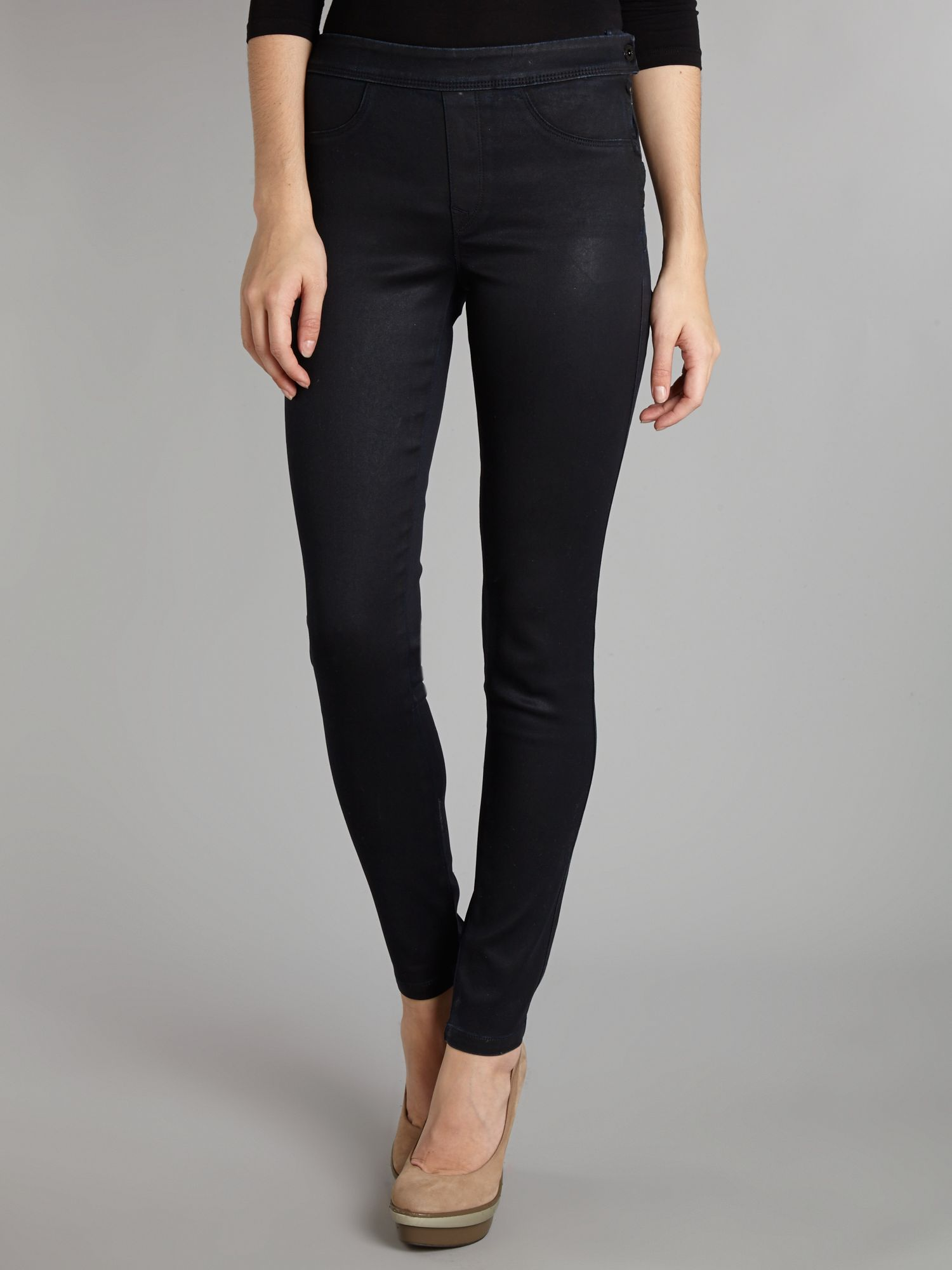 Secret Push-In skinny coated jeans