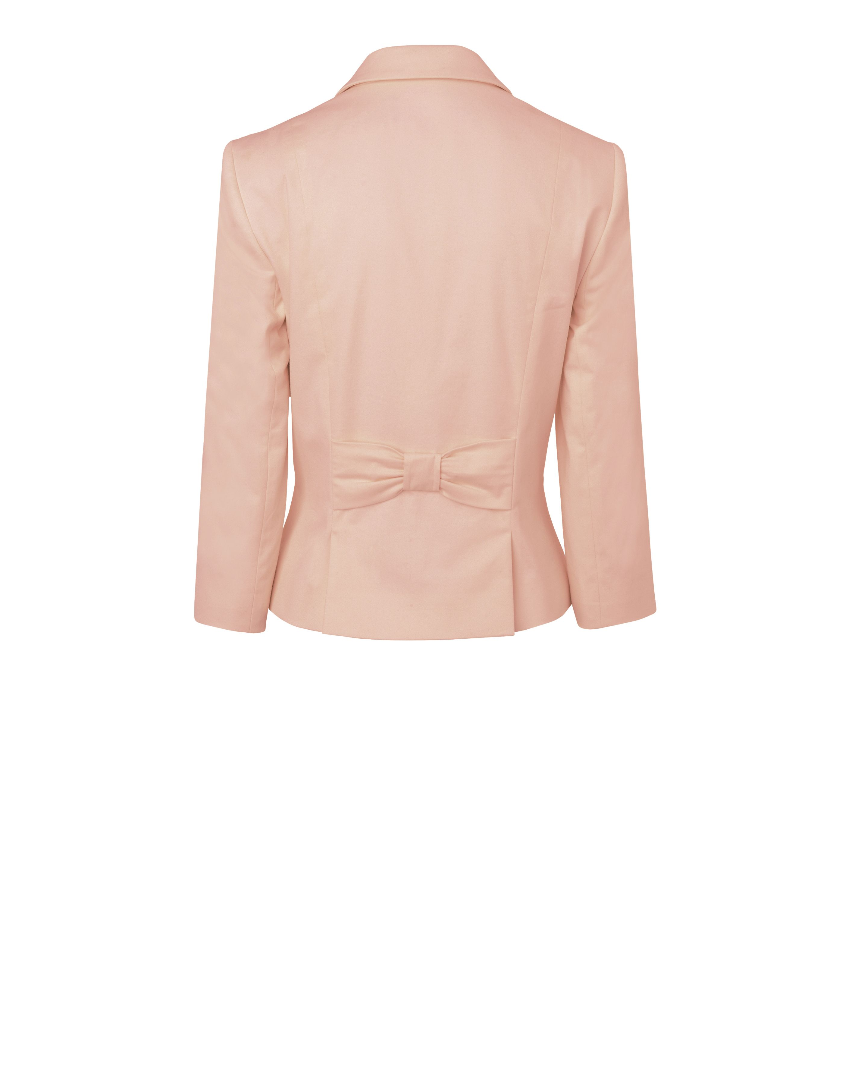 Jacket with bow back detail
