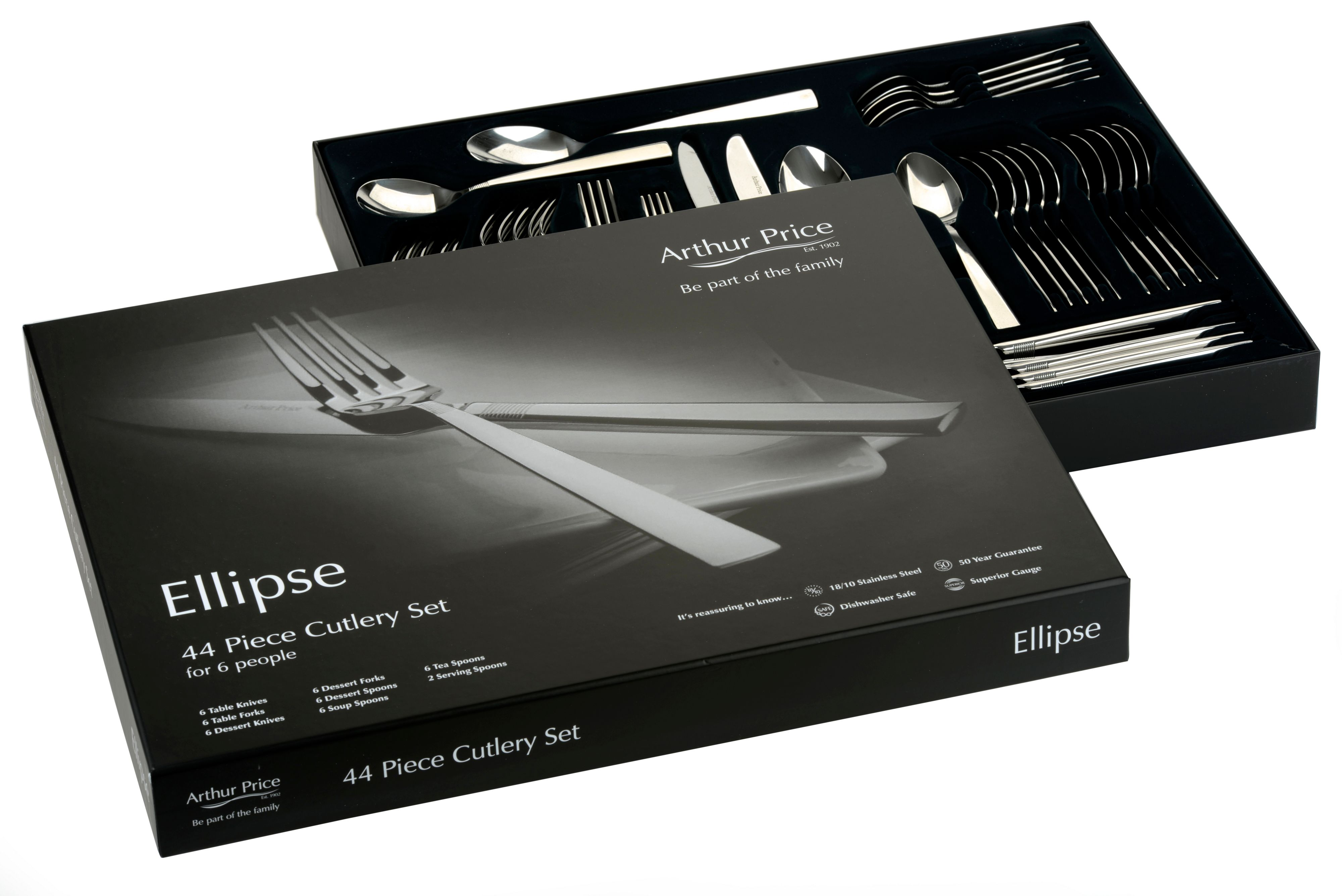 Ellipse 44 piece 6 person boxed set