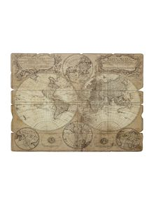 Vintage style map wall art