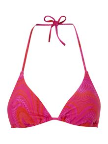 Over wrap triangle bikini top