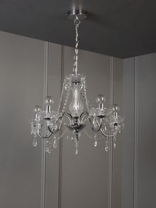 Clarence 5 light chandelier chrome