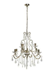 Winchester 9 light crystal chandelier