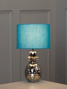 Pineapple table lamp - teal