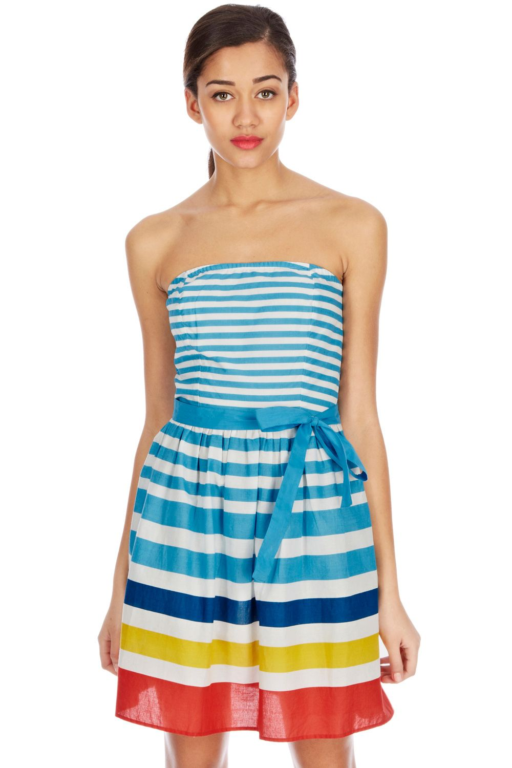 Stripe fit and flare sundress