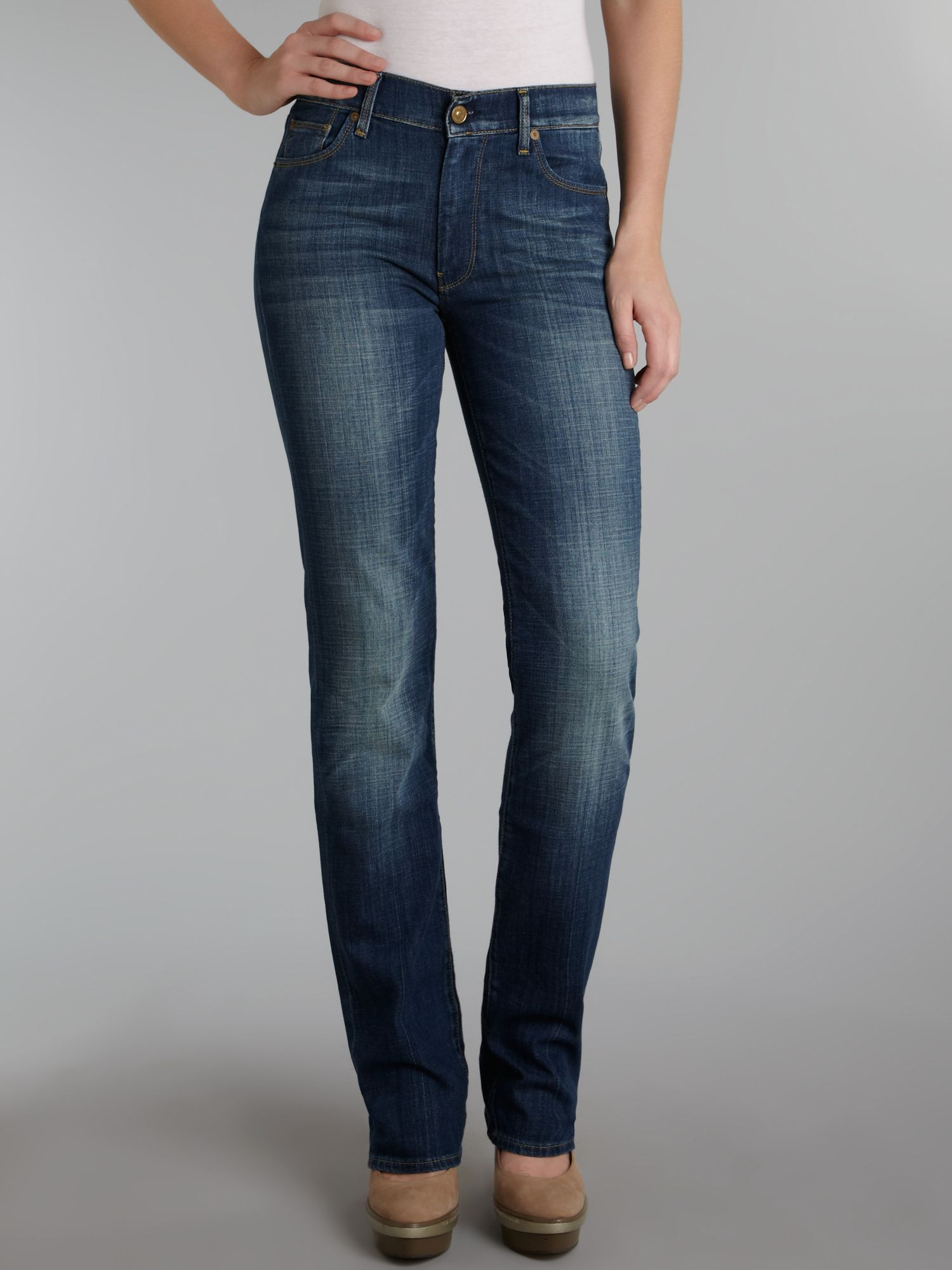 Straight leg jeans in Earthsoul