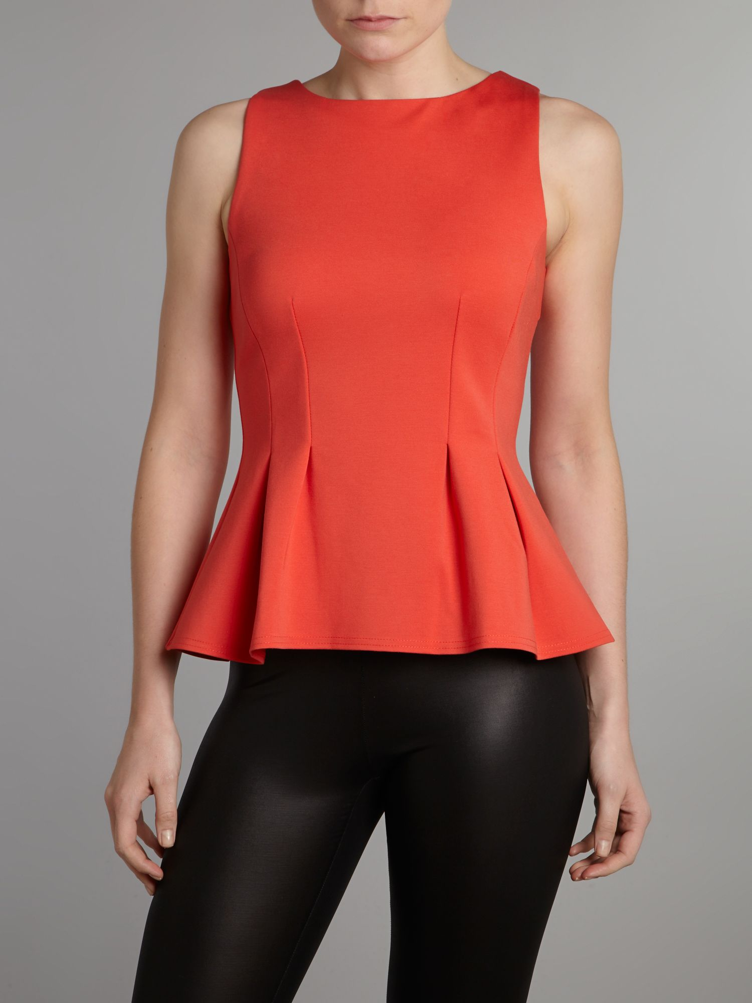 Seam sleeveless ponti top