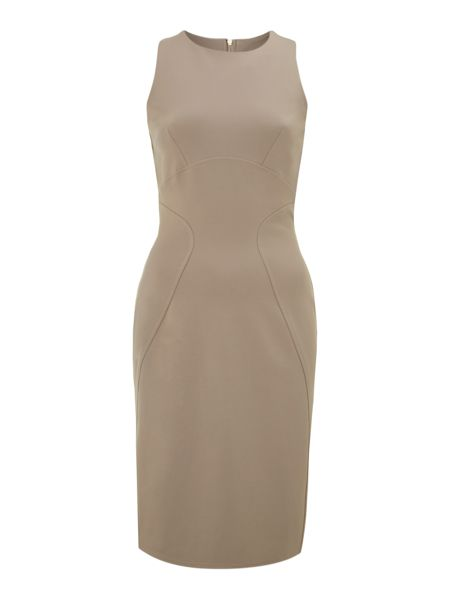 Almari Curve seam ponti bodycon dress