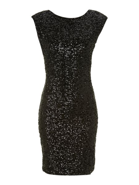 Jolie Moi Sequin bodycon dress