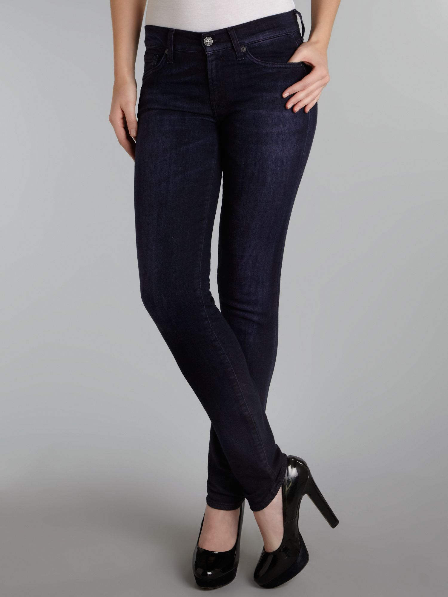 Gwenevere skinny jeans in Shadow Purple