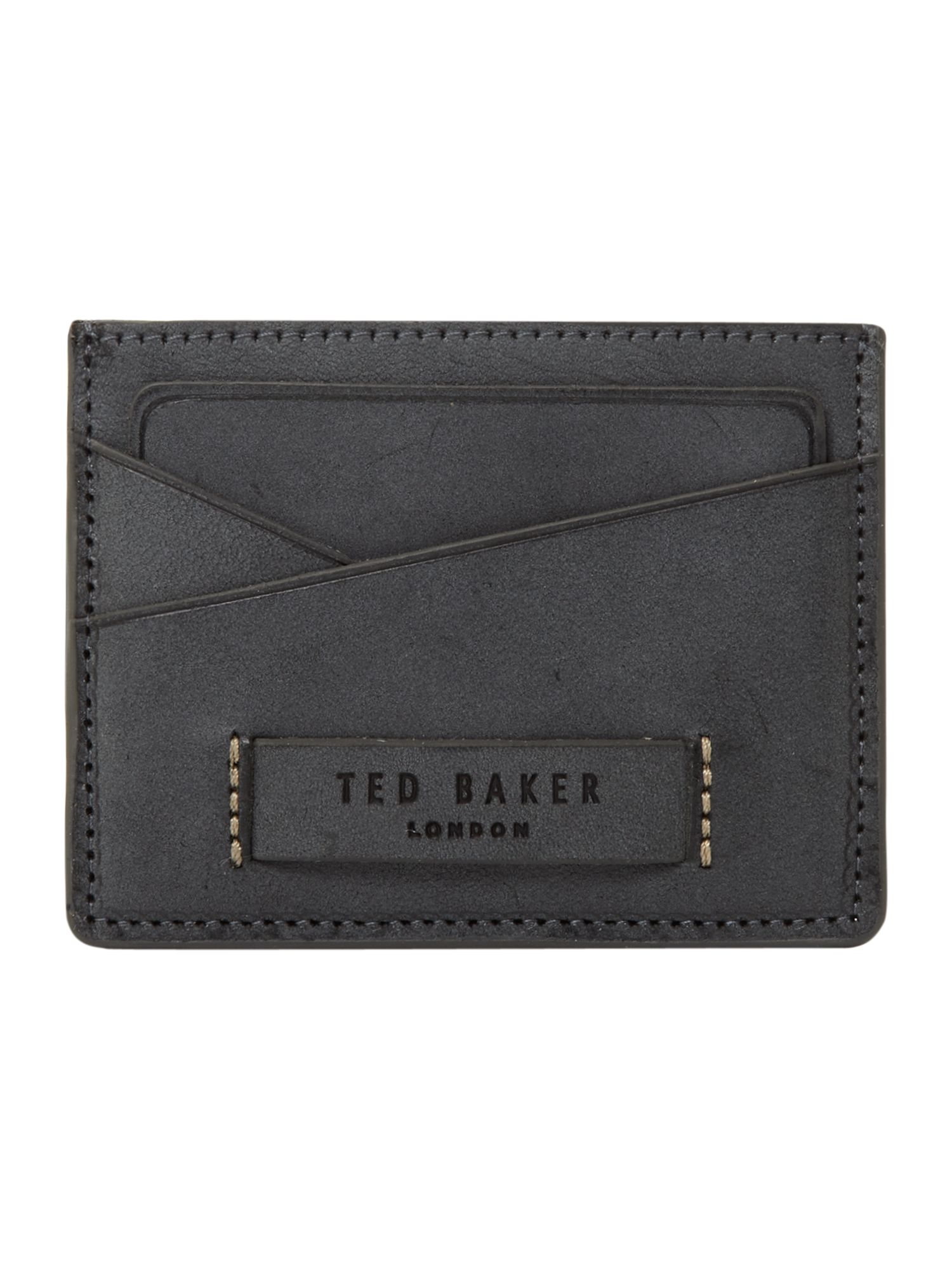 Raw edged card holder wallet