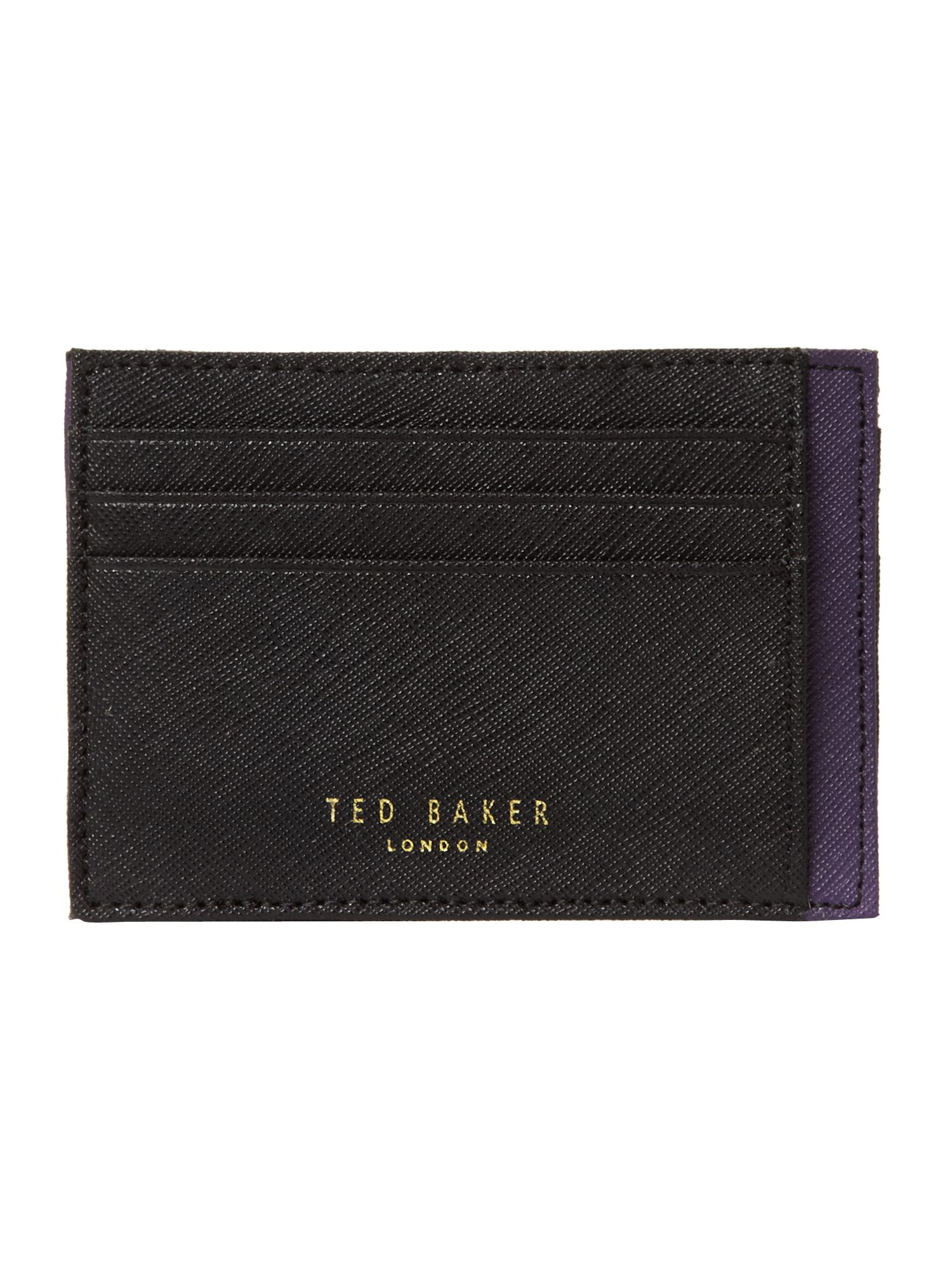 Cross grain card holder wallet
