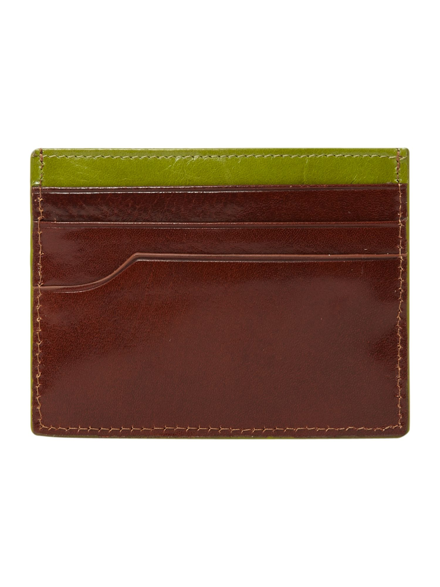 Edge paint card holder wallet