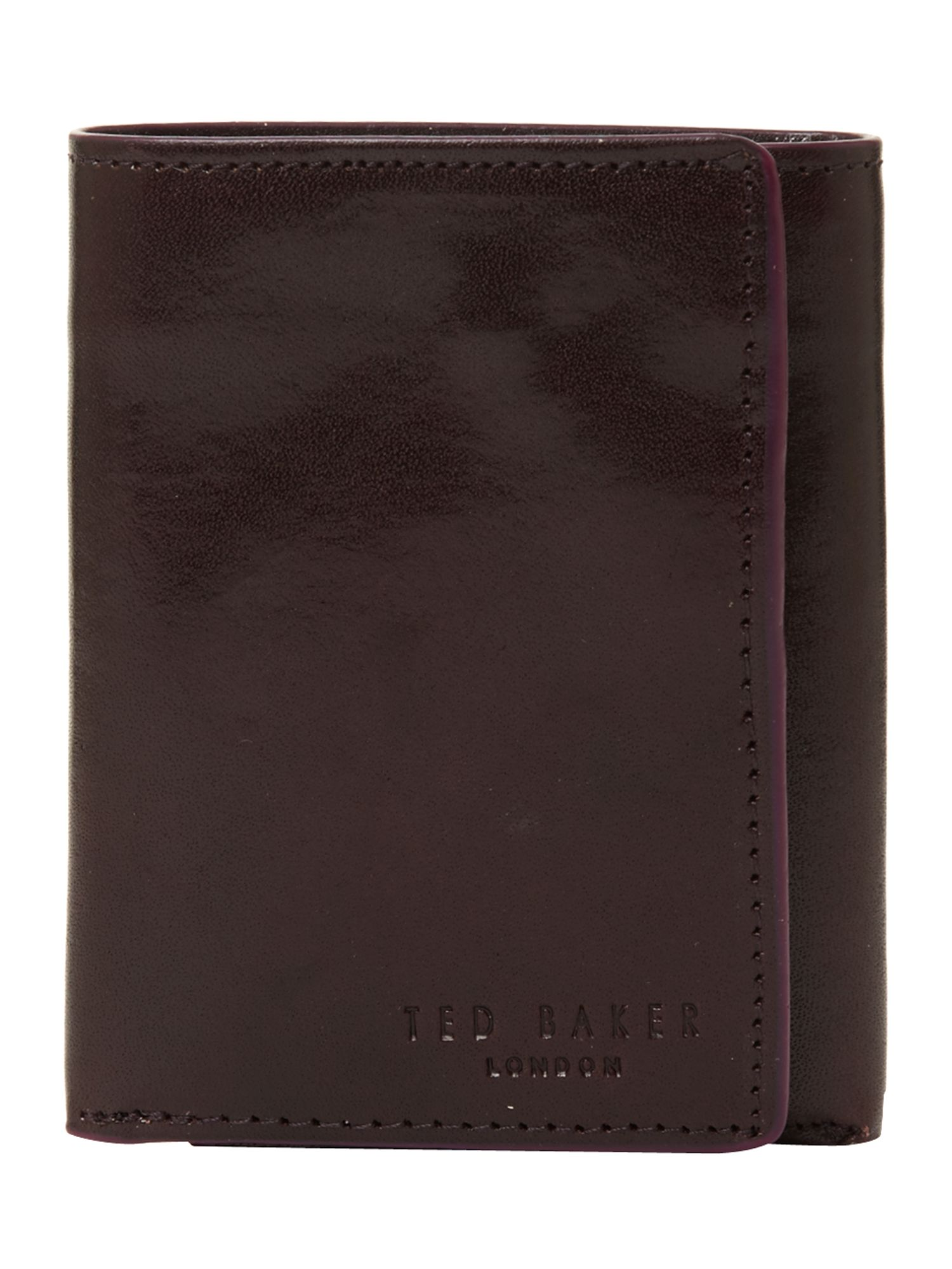 Edge paint trifold wallet
