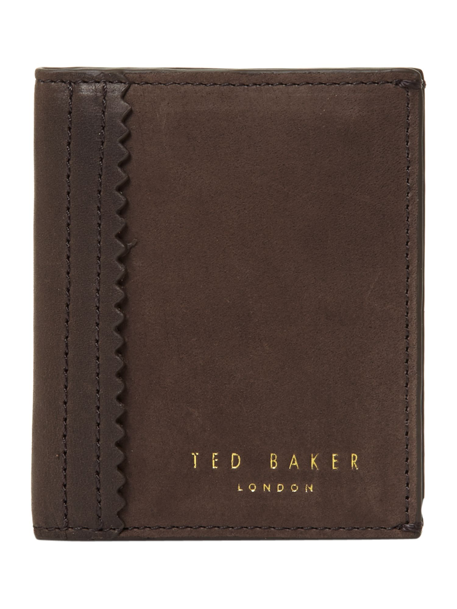 Polished leather bifold wallet