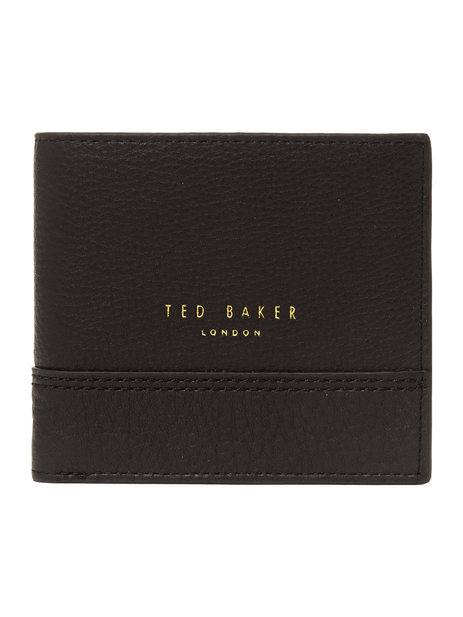 Leather bifold coin wallet