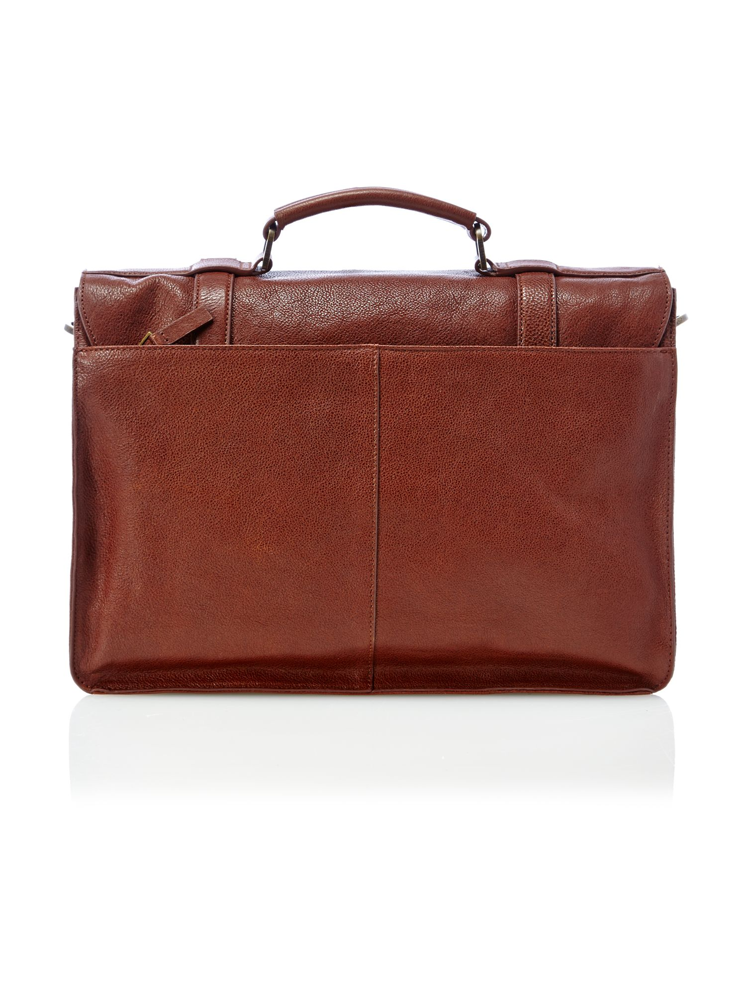 Grained leather briefcase