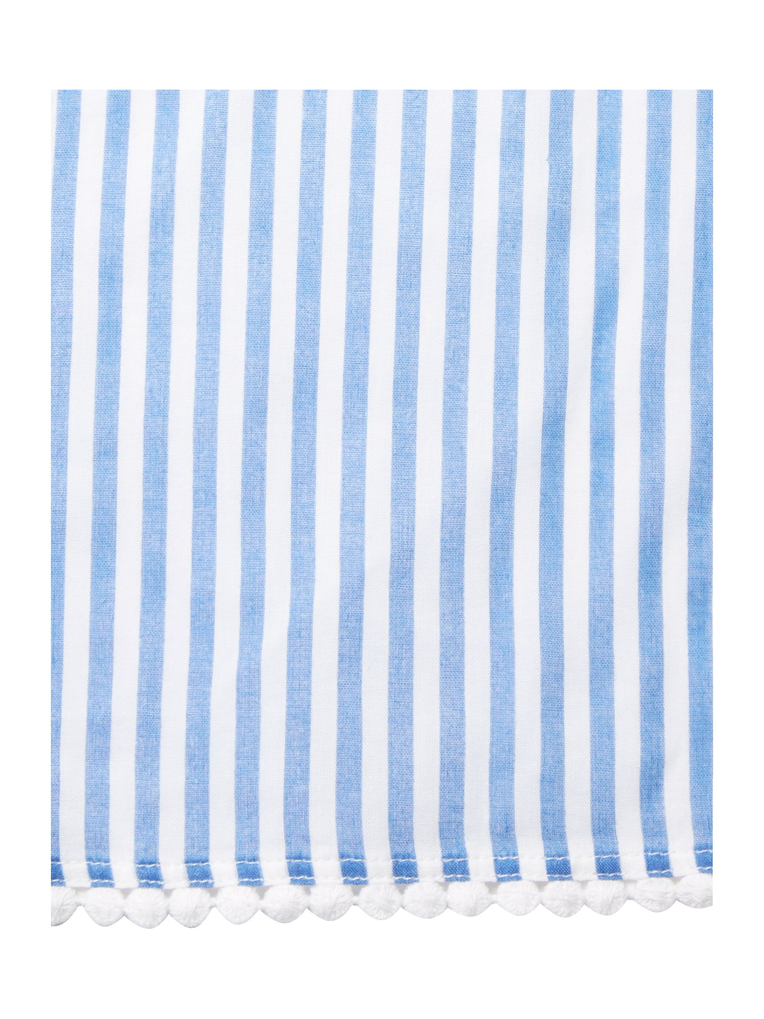 Stripe cotton pom pom pareo