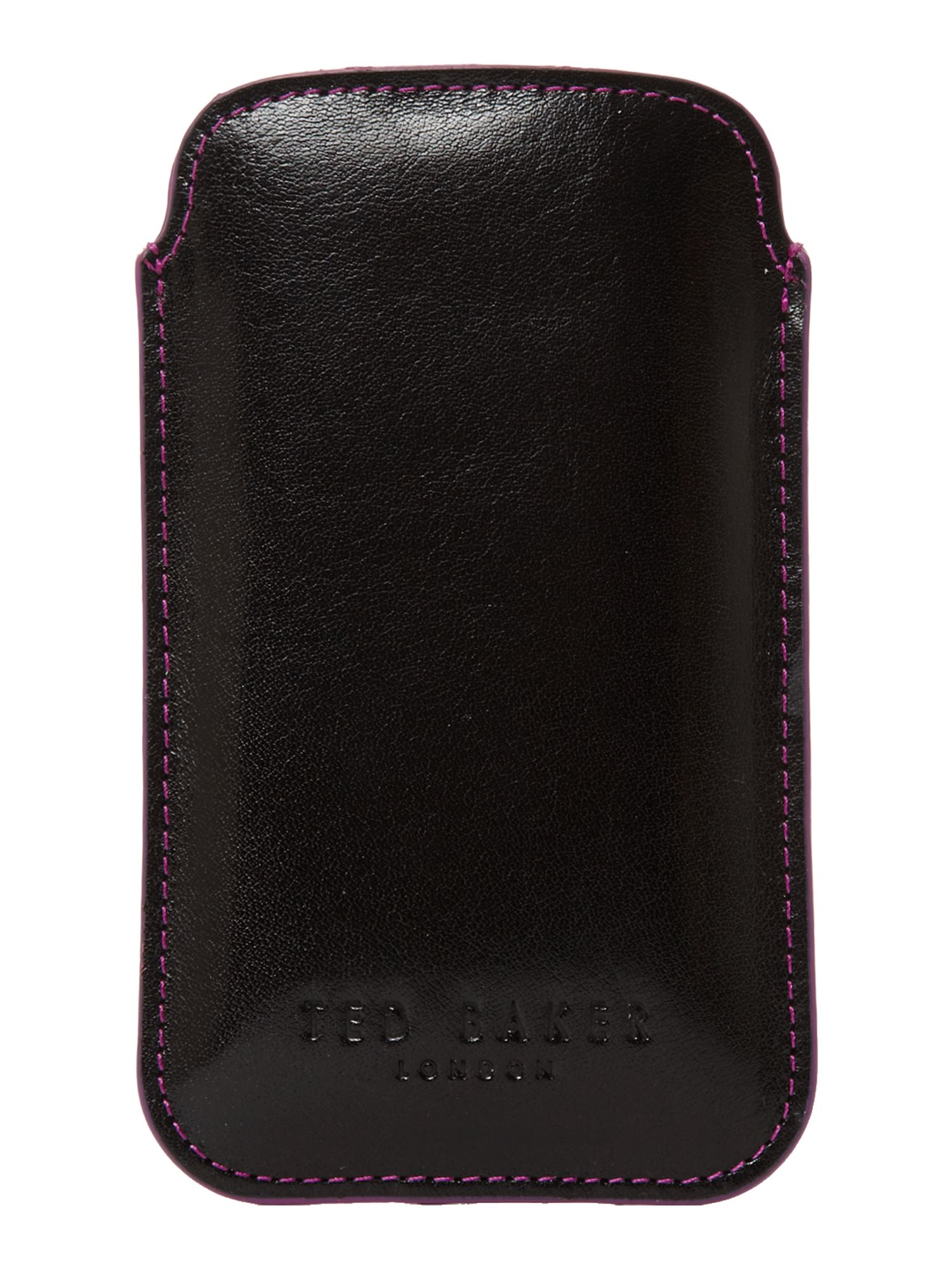 Edge painted leather phone case