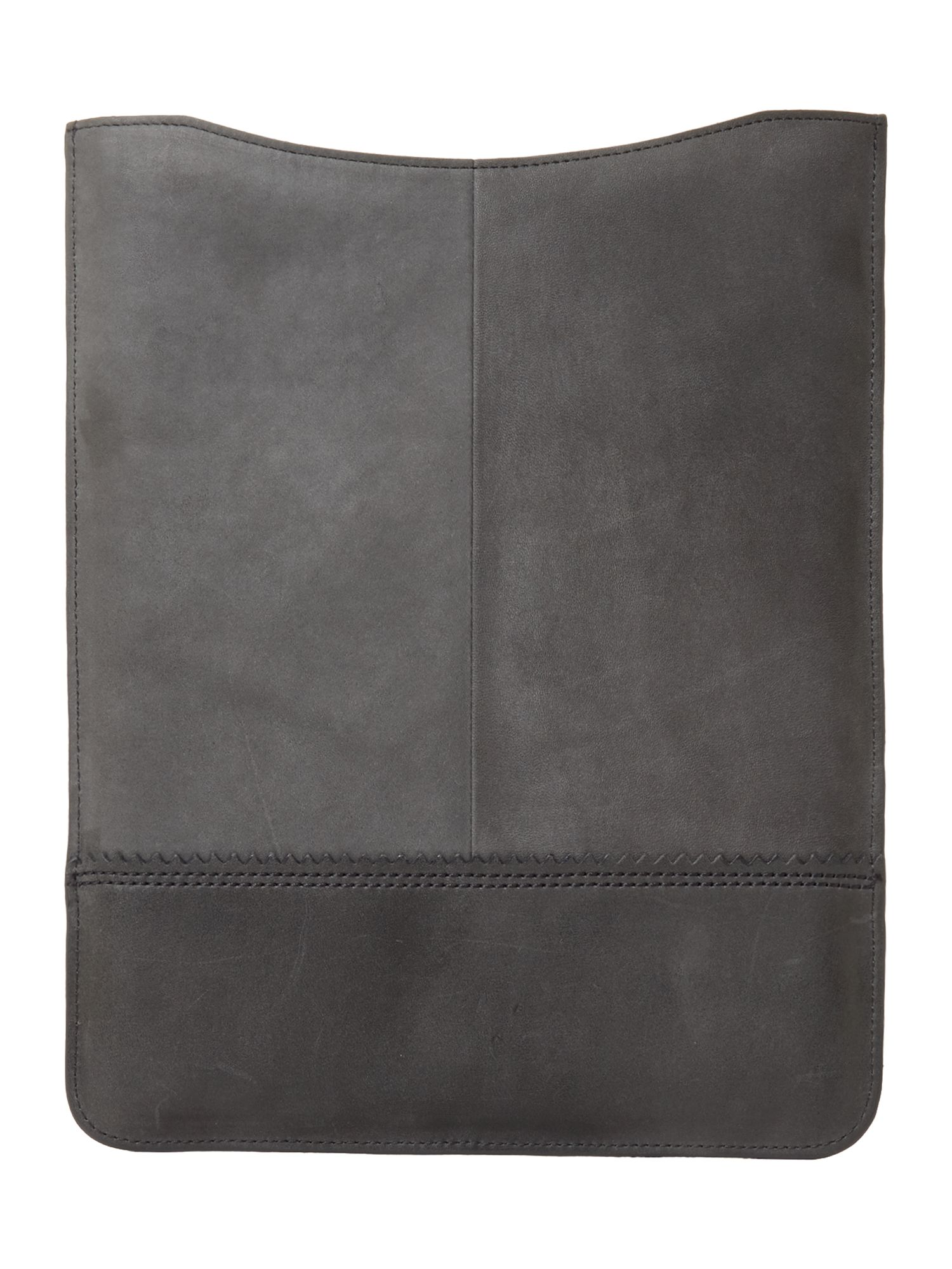 Polished leather small tablet case