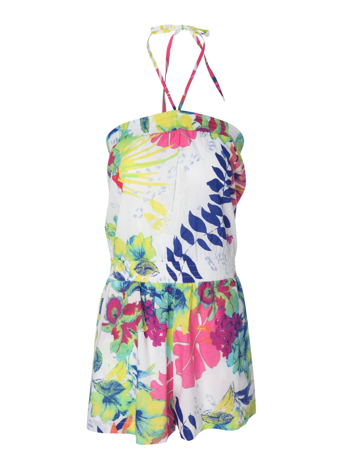 Tropical bandeau playsuit