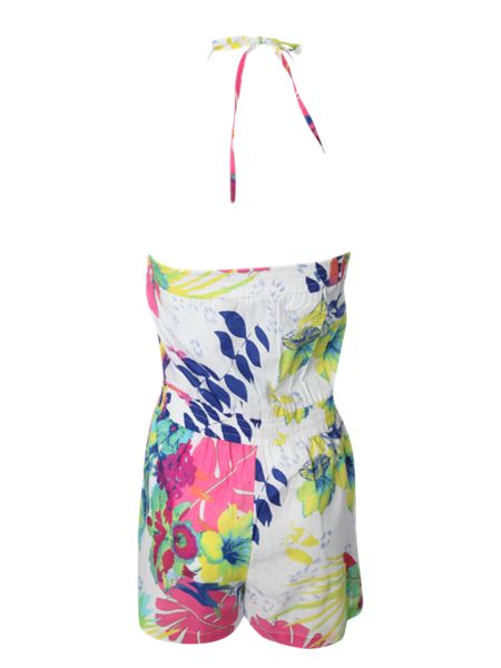 Jane Norman Tropical bandeau playsuit
