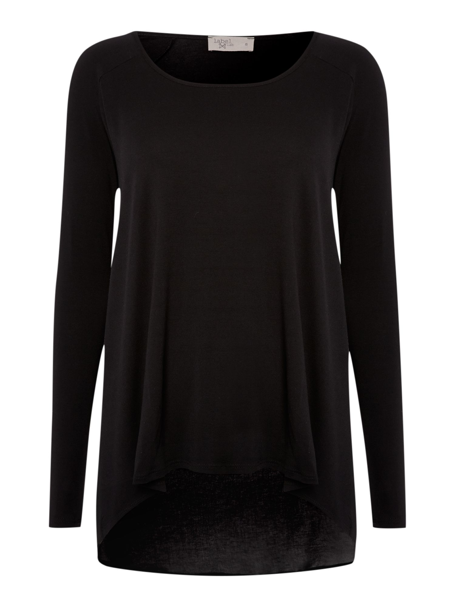 Chiffon back long sleeve top