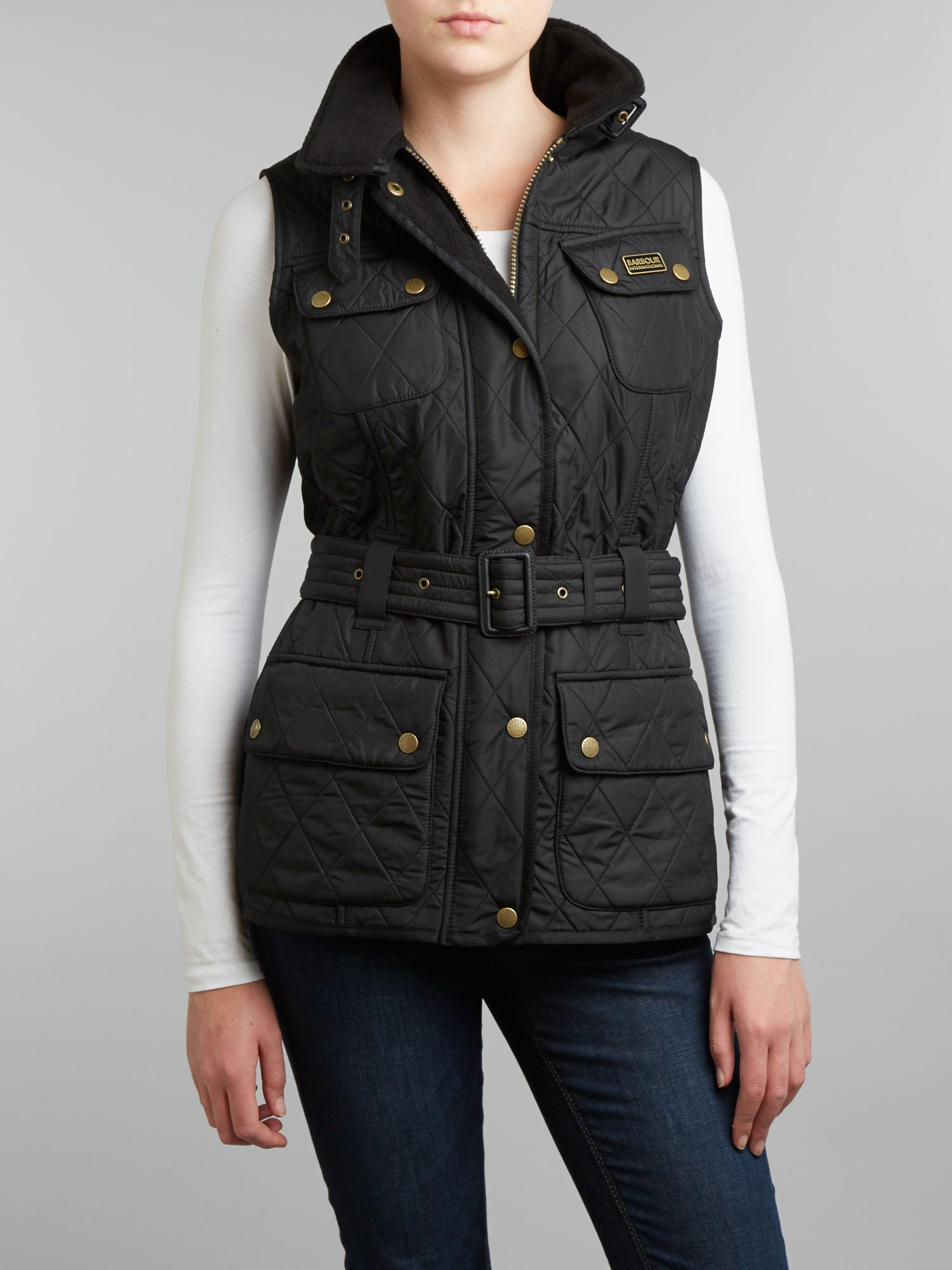 Funnel Neck Belted Knight Int Gilet