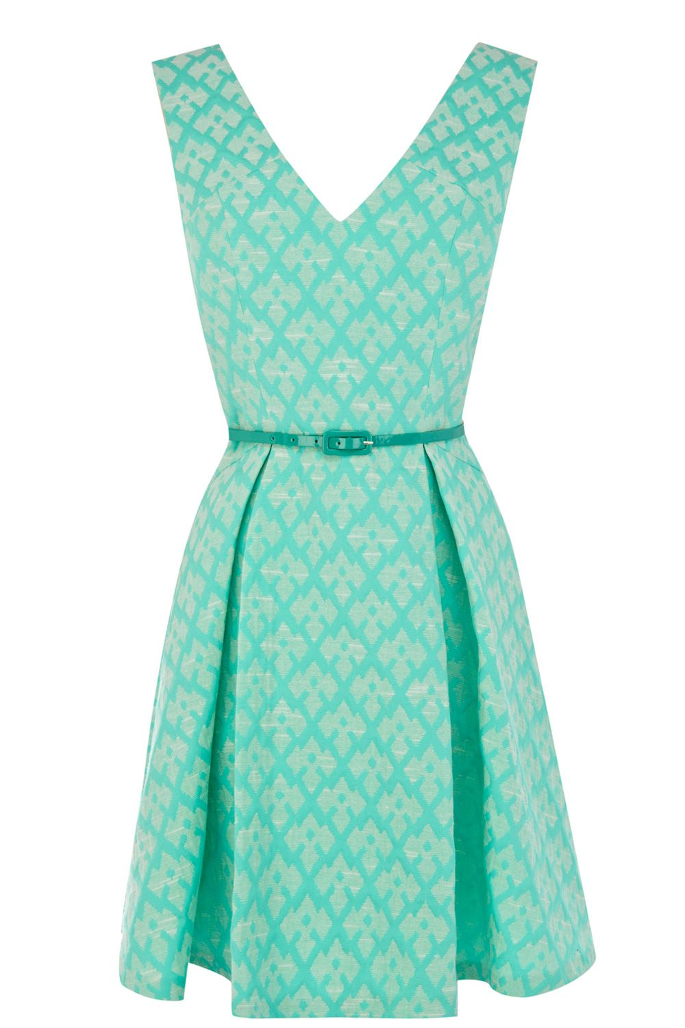 Mint jacquard dress