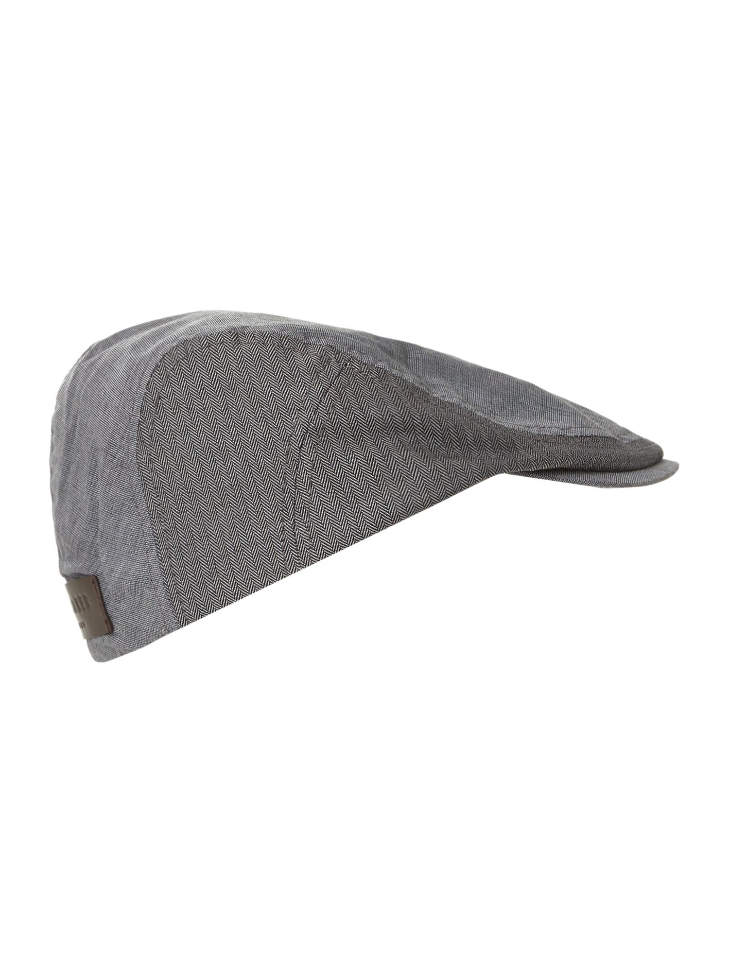 Multi fabric flat cap