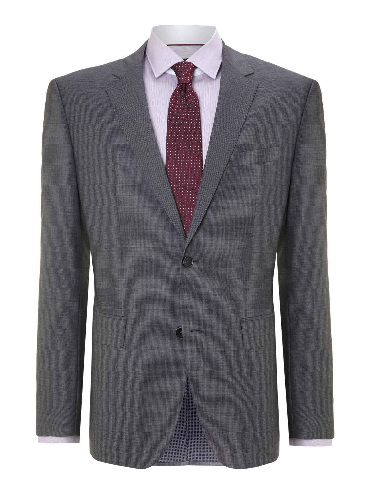 Keys shaft regular fit textured stretch suit