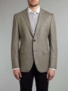 Smith regular fit tweed blazer with elbow patch