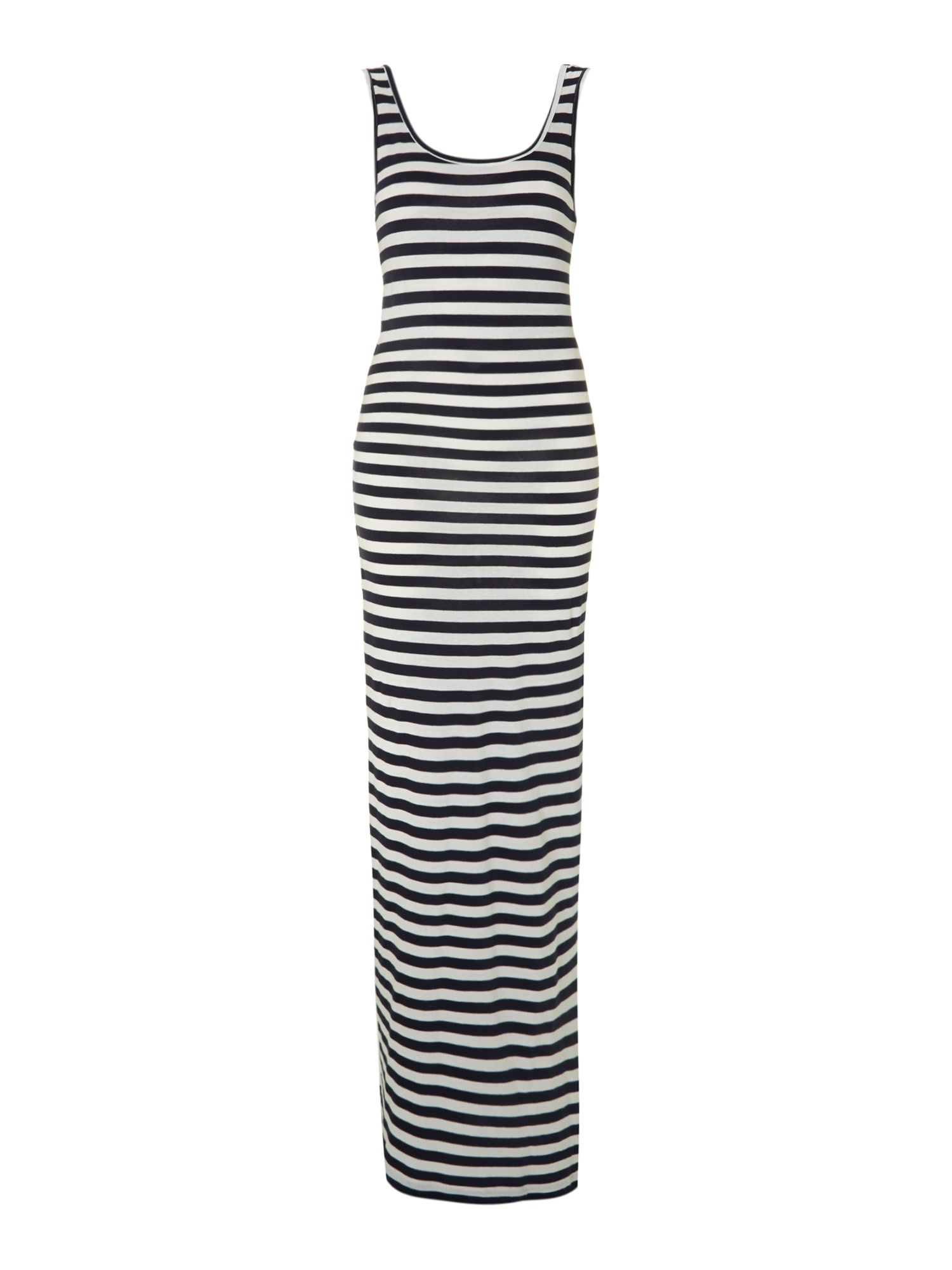 Beachy sleeveless striped maxi dress