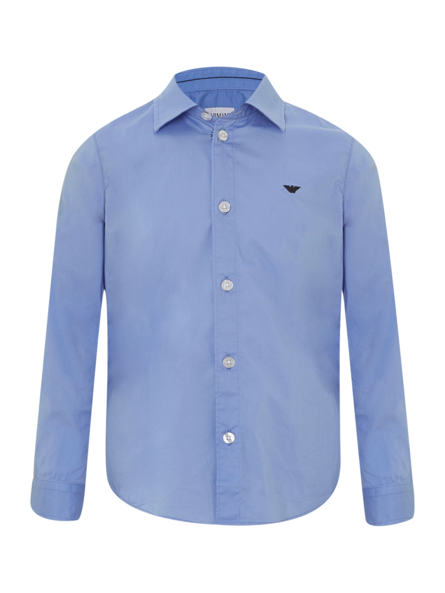 Boy`s long-sleeved poplin shirt