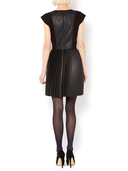 Therapy Faux leather pleat pu dress