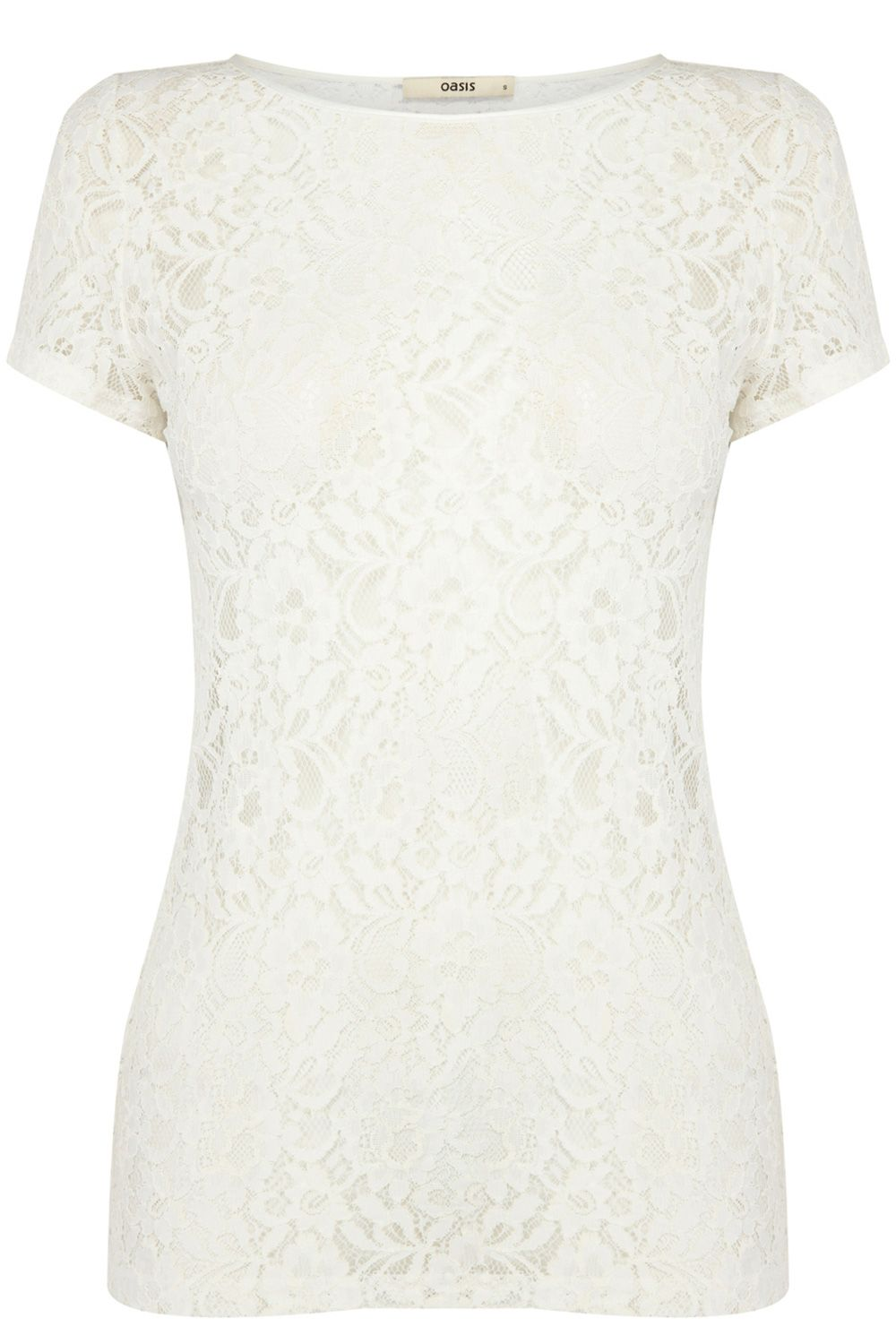 Lace short sleeve fitted tee