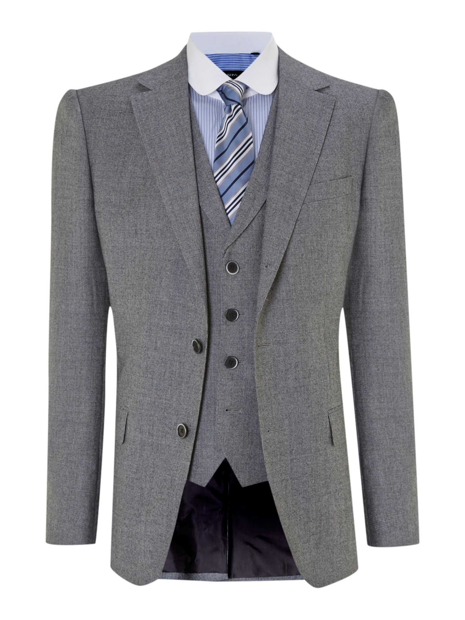 Dunham/Knight slim mini dogtooth three piece suit