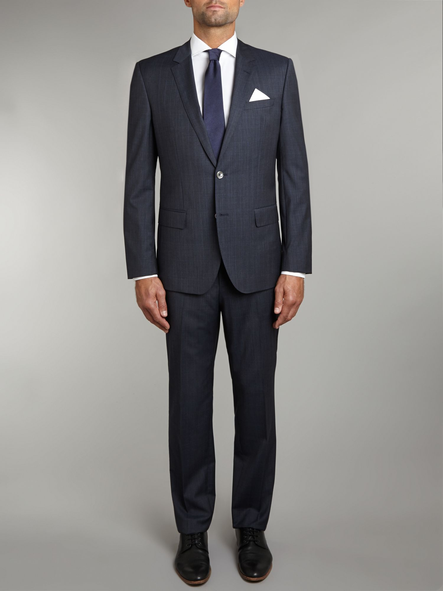 Huston/Gander slim fit subtle check suit
