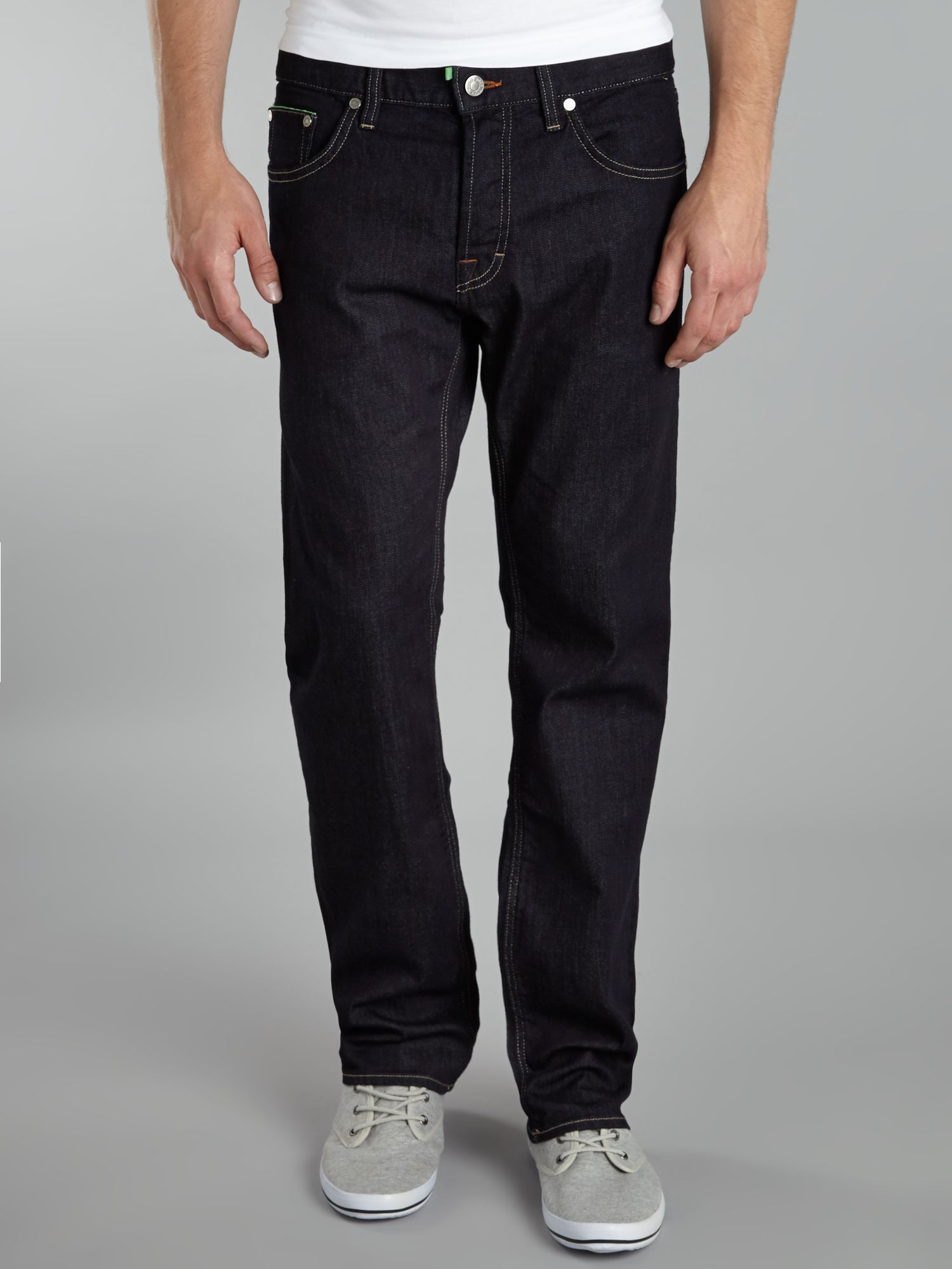 Deam straight fit washed jeans