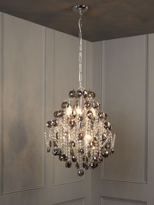 Seraphina glass chandelier - smoke
