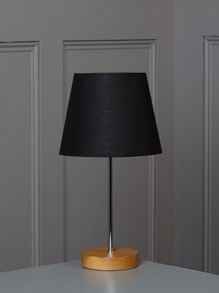 Linea Woody table lamp - black