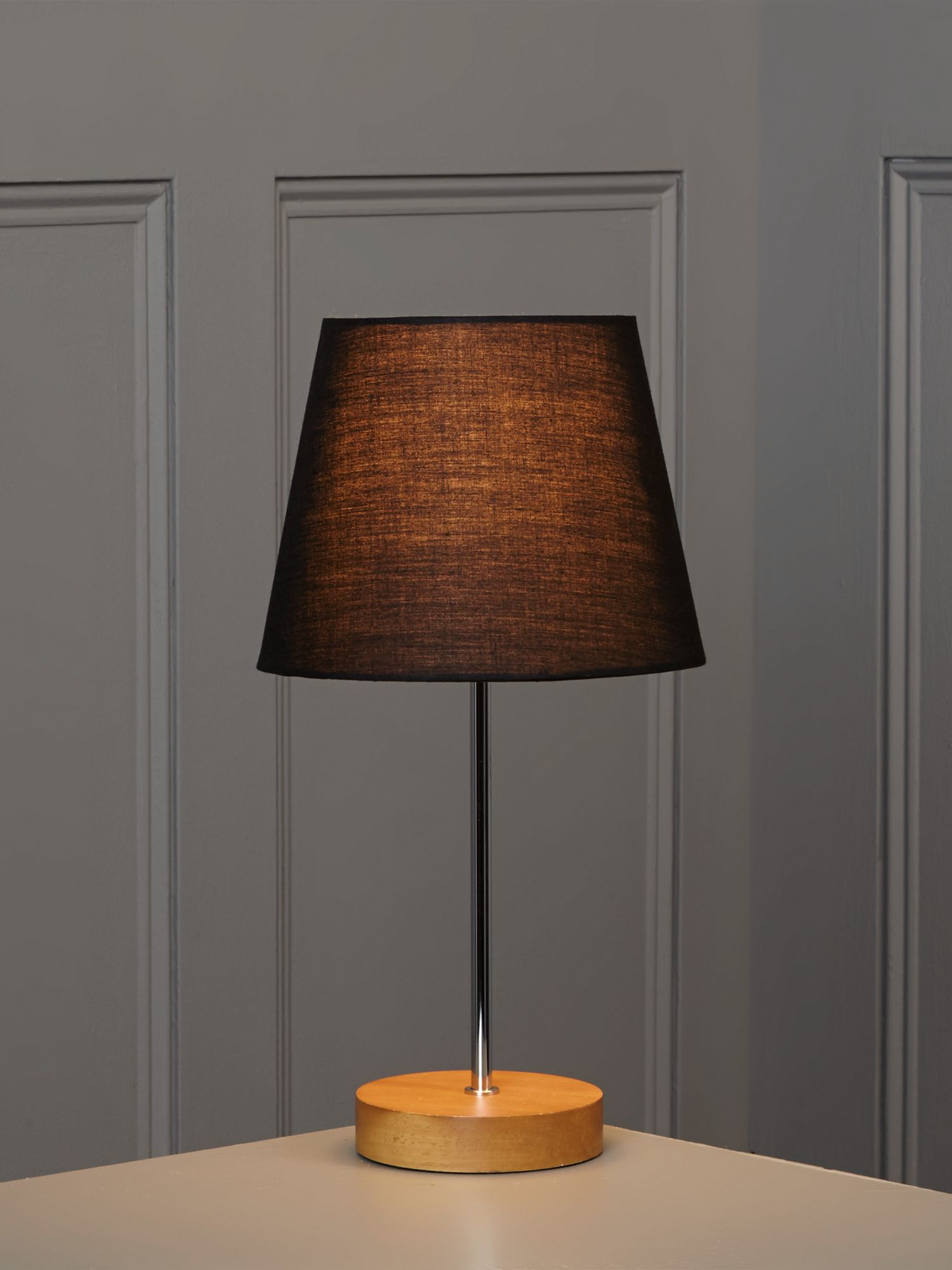 Woody table lamp - black
