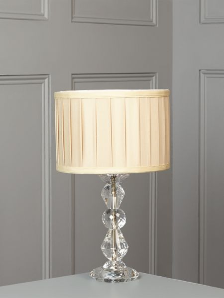 Linea Clarence crystal table lamp - champagne