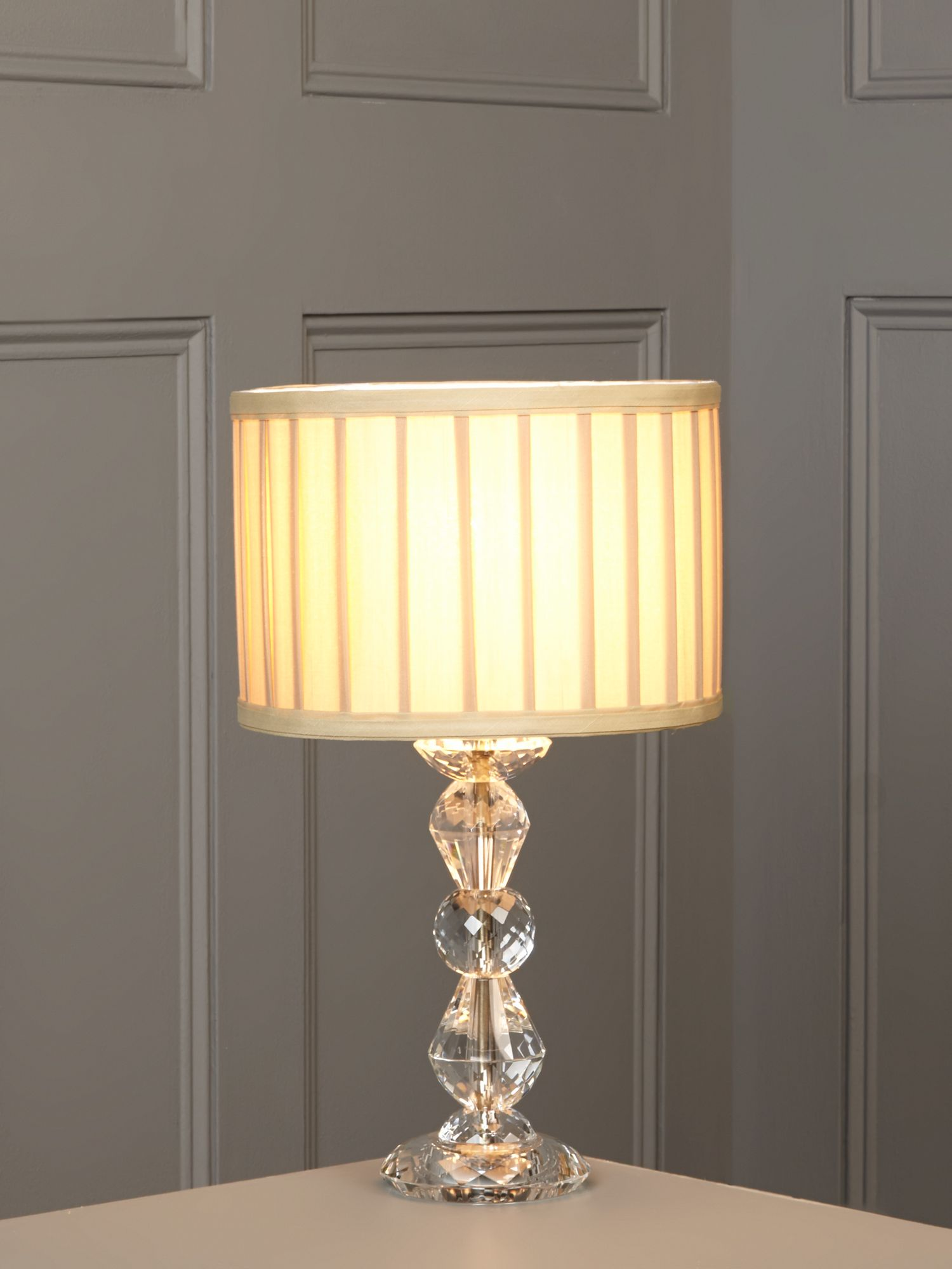 Clarence crystal table lamp - champagne
