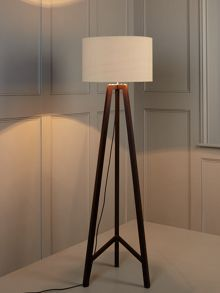 Chocolate tripod floor lamp