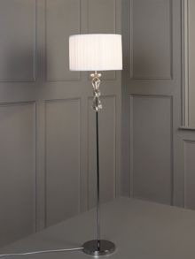 Clarence crystal floor lamp - white