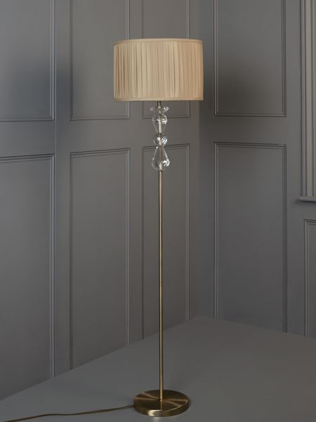 Linea Clarence crystal floor lamp - champagne